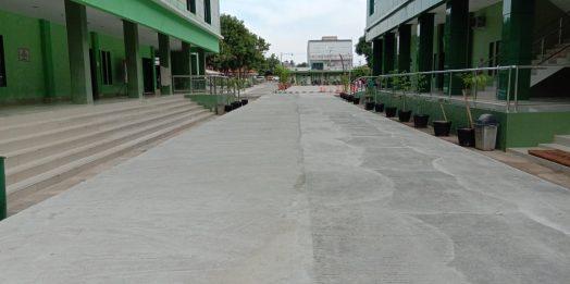 Pengecoran Jalan di Kampus FKIP Untirta Ciwaru (Sempu)