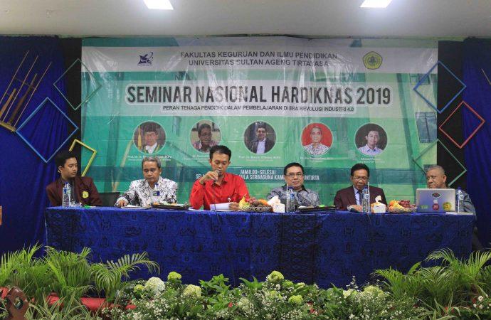 FKIP UNTIRTA Peringati Hardiknas dengan Seminar