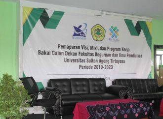 Pemaparan Visi Misi Bakal Calon Dekan FKIP 2019-2023