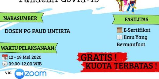 Jurusan PG PAUD FKIP UNTIRTA Adakan WEBINAR