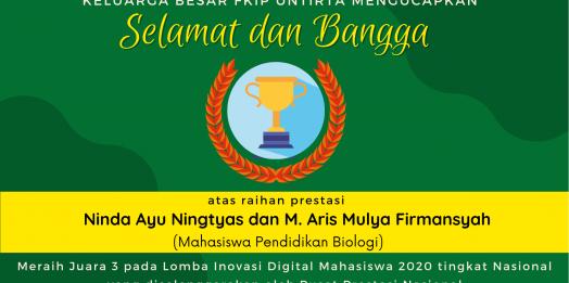 Mahasiswa Pendidikan Biologi FKIP UNTIRTA Raih Juara 3 Ajang Lomba Nasional