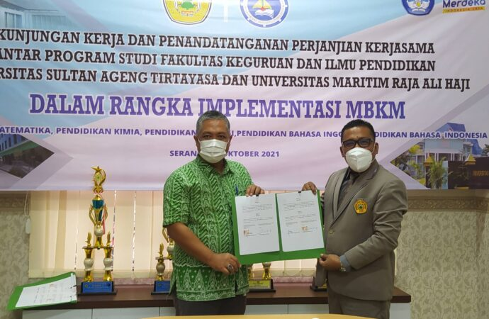 Penandatanganan Perjanjian Kerja Sama Antara FKIP UNTIRTA & FKIP UMRAH